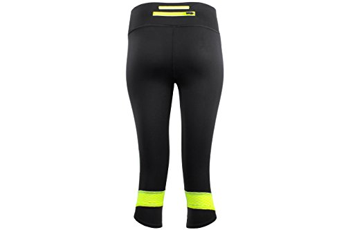 Under Armour Damen Running - Kompressionswäsche Hose Fly By Compression Capri Black / X-Ray / Reflective