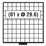 1x SAFE 6109 BEBA SCHUBLADE / MÜNZSCHUBLADE - 81 x 29,6 QUADRATISCHEN VERTIEFUNGEN FÜR MÜNZEN BIS 29,6 mm & MÜNZKAPSELN BIS CAPS 23,5 ---- FÜR MÜNZKASTEN 6100 ---- IDEAL FÜR 1 EURO IN CAPS & 2 & 5 DM / 5 MARK DDR