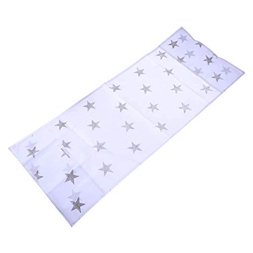 Vosarea Schutzhülle aus Stoff für Mikrowelle, staubdicht, Sterne, Grau, 85 x 34,5 cm (Mikrowelle Stoff)