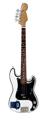 Miniature Guitar Replica: Steve Harris Signature Precision Bass - Model Mini Rock Memorabilia Replica Wooden Miniature Guitar & FREE Display Stand (UK