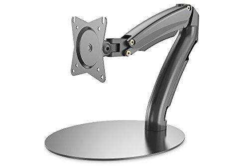 DIGITUS Monitorhalterung mit Gasdruckfeder, Tischständer, Displays bis 27'/69 cm Diagonale, max. Belastbarkeit 6,5 kg, VESA Normabstände 75x75 & 100x100 mm