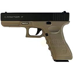 Plan Beta Pistolet Heavy Metal Factor 7 Noir/Tan Spring 0.5J Adulte Unisexe