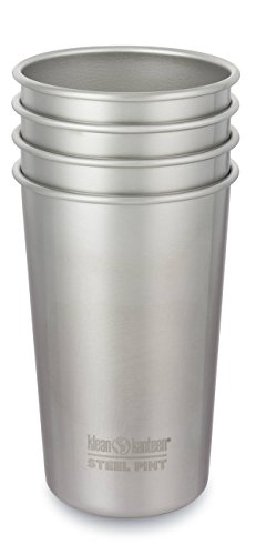 Klean Kanteen Edelstahlbecher 296 ml Cup, Brushed Stainless, 8020178