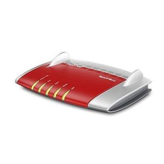 AVM FRITZ!Box 7560 WLAN AC + N Router (VDSL-, ADSL-/ADSL2+-Modem, 1,300 MBit/s, TK-Anlage für Voice over IP mit DECT-Basis, Media Server, Edition A/CH) weiß/rot