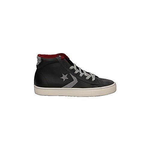 Scarpe bassa CONVERSE Pro Leather Vulc Mid Leather Suede in pelle nera con richiami grigi 155099C lmFR9u3