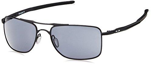 Oakley Herren Gauge 8 Sonnenbrille, Schwarz (Matte Black/Grey), 57