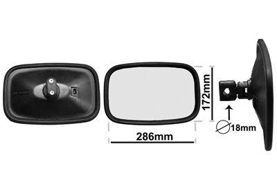 20 * 6cm WINOMO Int/érieur de voiture r/étroviseur int/érieur universel r/étroviseur int/érieur de remplacement Grand angle haute visibilit/é r/étroviseur