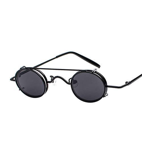 Wghz Design kleine ovale Sonnenbrille Steam Sonnenbrille Frauen Spiegel Luxe 80er Jahre Runde Sonnenbrille Herren Flache Linse Vintage UV