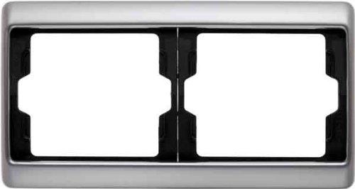 Preisvergleich Produktbild Hager ARSYS Rahmen 2Elemente Horizontal Edelstahl