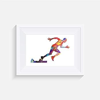 Sprinter Inspiriert – Drucken – Poster – Aquarell – Wandkunst- verschiedene Größen(Rahmen Nicht Inbegriffen)