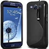 Black S-Line Gel Skin Case Cover For Samsung Galaxy S3 I9300 Includes A Screen Protector + Polishing Cloth & Mini Touch Screen Stylus By Connect Zone�