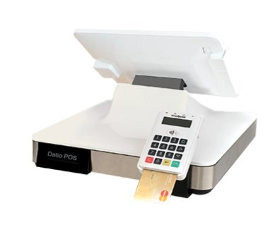 Datio Point of Sale Base Station and Cash Register for iPad with Point of Sale (POS) Software, printer, cash drawer, scanner and credit card reader for UK