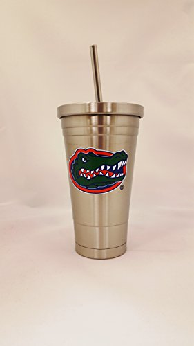 Duck House NCAA Florida Gators oz doppelwandig Edelstahl Thermo Tumbler mit Stroh -