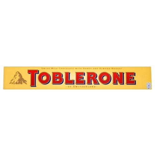 Toblerone Schokolade/Feine Schweizer Milchschokolade mit Honig- und Mandelnougat / 10 x 200g