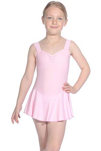 Roch Valley Emilie ärmelloses Ballett Trikot aus mattem Lycra Blassrosa 1B (122-128cm) -
