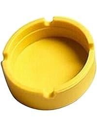 Ceniceros de silicona soft eco-friendly pocket ronda shatterproof cigar cinturón de goma de silicona para hombre,Amarillo
