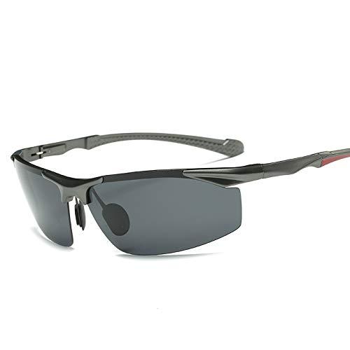 kamier Aluminium-Magnesium polarisierte Sonnenbrille beschichtet Reit Sonnenbrille Herrenmode Hipster Sonnenbrille Hersteller schwarz grau