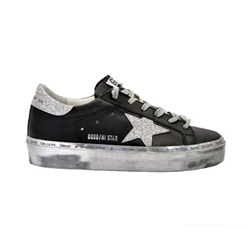 newest a294e bd14c Golden Goose Sneakers Donna G34ws945f2 Pelle Nero