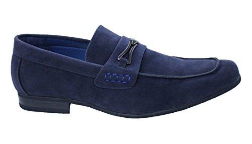 Mocassini scarpe uomo blu casual eleganti man's shoes top quality (41)