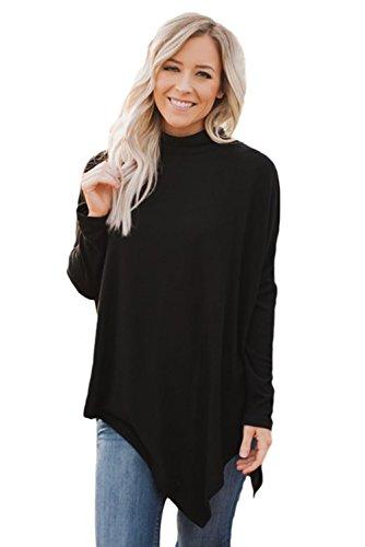 Akalili - Sweat-shirt - Slip - Manches Longues - Femme Noir