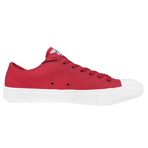 Converse Unisex-Erwachsene Ct As Ii Ox Tencel Sneaker Red/White