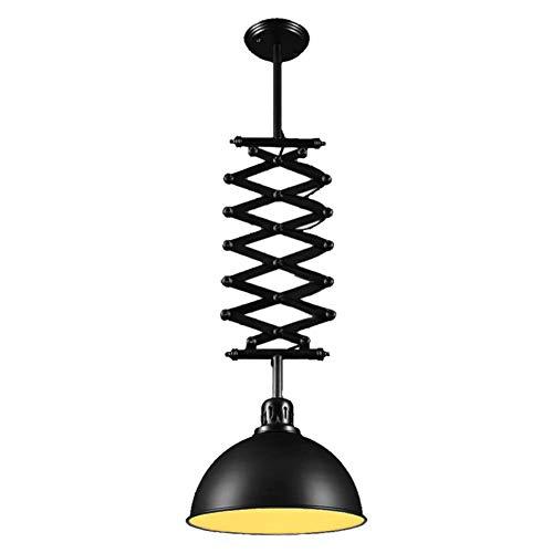BEGRHT Vintage Industrial Pendelleuchte Esstisch Hängeleuchte aus Metall Deckenleuchte mit Ziehharmonika-Arm Eisen Lampenschirm E27 Lampenfassung für Bar Restaurant Café Keller Loft Beleuchtung (Garage-tür-arm-halterung)