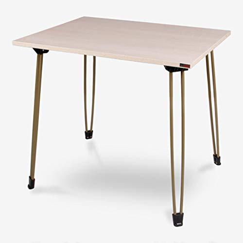 HQCC Table Pliante portative, Table Basse d'ordinateur de Bureau à la Maison, (chêne Rose DE 80 * 60) (Couleur : Noir)