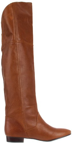 Chinese Laundry South Bay Rund Leder Wasserstiefel Cognac