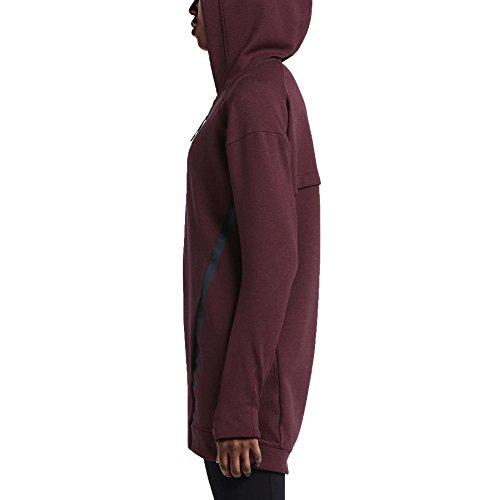 Nike Tech Fleece Ccoon-Mesh Veste pour femme granate / negro (night maroon / htr / obsidian)