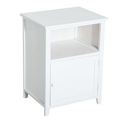 Homcom® Nachttisch Beistellschrank Nachtkonsole Nachtkommode Sideboard Holz Weiß