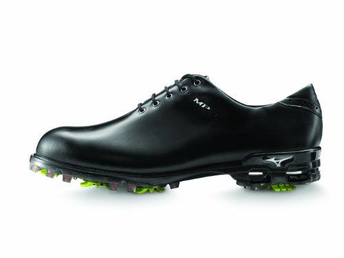 Mizuno MP Chaussures de Golf en Cuir pour Homme, Homme, Noir, 7.5