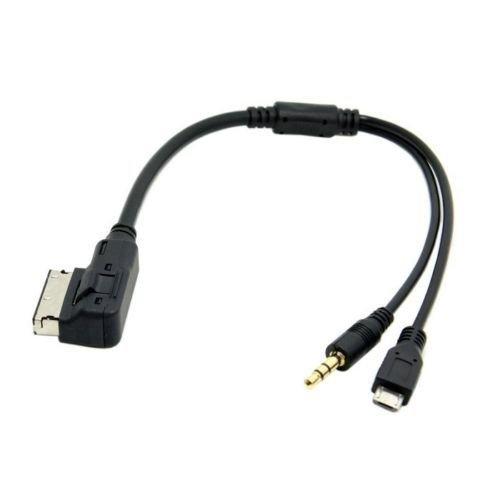 Audi/Volkwagen Car AMI MMI MDI to Micro USB 3.5mm AUX