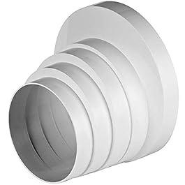 Ø 100110120125150mm Riduttore Riduttore Riduzione passaggio tubo di ventilazione tubo tondo ventilazione ventilazione ventilatore canale universale RKO Ø 100–150mm