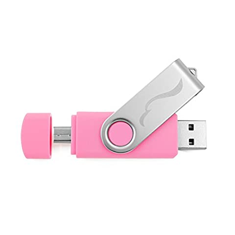 Techkey OTG USB-Stick für Handys, Tablets und PCs, Galaxy Element, 32GB, Pink