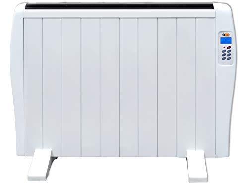 Haverland EC 10 | Emisor Térmico de 10 Elementos de Aluminio 1500W | 17-24m2 | Bajo Consumo | Calentamiento Rápido | Temporizador | Mando a Distancia | 3 Modos | Incluye Patas y Soporte para Pared.