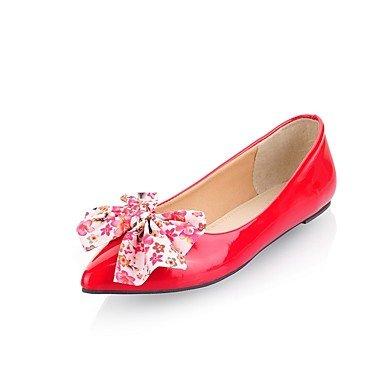 Wuyulunbi @ Chaussures Femme Hiver Printemps Confort Flats Talons Plats Boucle Pointue Pour Vêtements De Loisirs Bleu Rouge Noir Noi10.5 / Eu42 / Uk8.5 / Cn43
