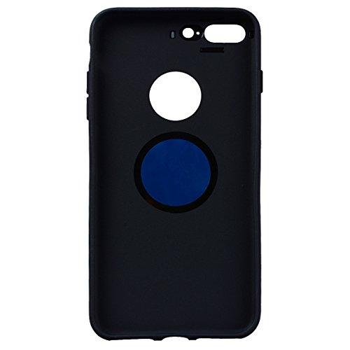 SMART LEGEND iPhone 7 Handyhülle mit Magnetische Auto Mount Weiche Silikon Hülle Eingebaute Magnet für KFZ Halter Autohaltung Schutzhülle Matte Bumper Crystal Kirstall Clear Etui Ultra Slim Design Gla Grün