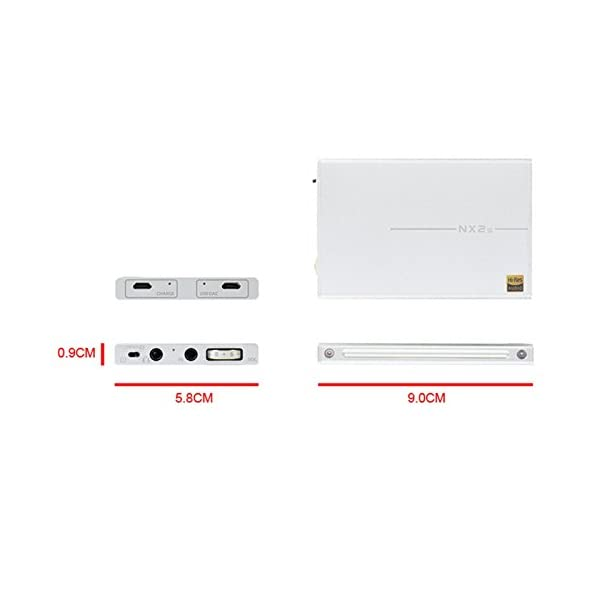 TOPPING NX2s Amplificatore per cuffie DAC per amplificatore per cuffie portatili digitali (Scheggia) +WINGONEER LED luce