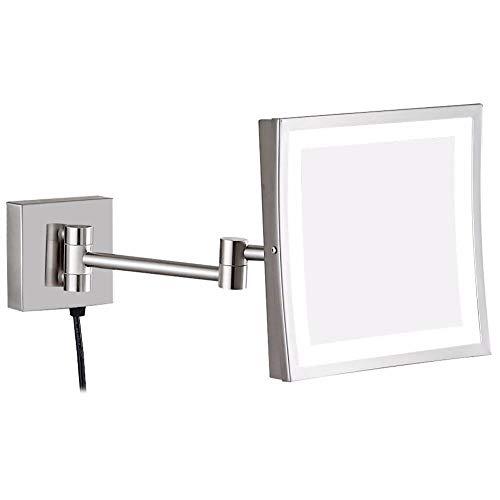 Vanity Cosmetic Vergrößerungs-LED beleuchtet Schminkspiegel Badezimmer Vergrößerung Rasur...