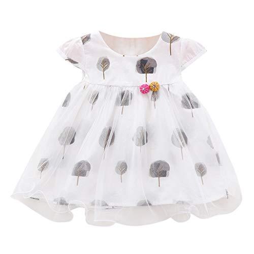 Hanomes Mode Print Prinzessin Kleid Sommer Kurzarm Mädchen Outfits Kleider Rundhals Tüll Tutu Kleid (3Monate-24Monate) -