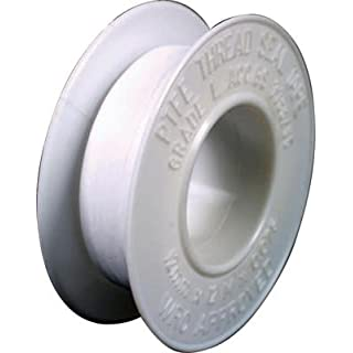AKORD 12mm x 12m Water White Plumbers PTFE Thread Seal Tape Plumbing Joint, 12mm x 0.075mm