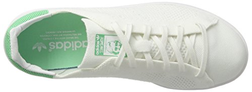 Adidas Unisex-erwachsene Stan Smith Pk Sneaker Weiß (calzature Bianco / Calzature Bianco / Verde Bagliore)