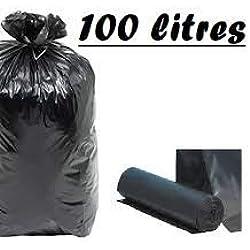 Sac Poubelle Noir Haute Résistance - 100 Litres / paquet de 200 sacs