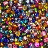 * 50g-6/0(4mm) en plata Multicolor con cuentas redondas de cristal *