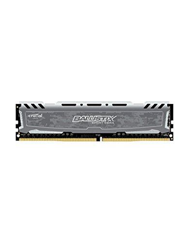 Ballistix Sport LT Memoria da 8 GB, DDR4, 2400 MT/s, (PC4-19200) DIMM, 288-Pin - BLS8G4D240FSB, Grigio