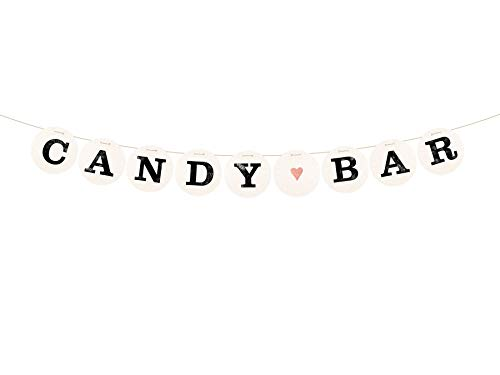 renna deluxe Candy BAR Girlande für die Hochzeit Hochzeitsgirlande für Hochzeit-Shooting Dekoration Hochzeitsdeko Sweettable Donutwall (Kupfer)