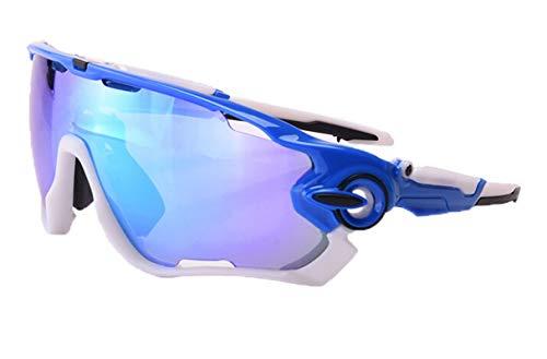 Bishilin Sport Brille Winddicht Herren Motorradbrille Beschlagfrei Blau Sonnenbrille Schutzbrille