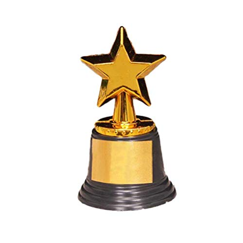 Toyvain 10 Stück Gold Award Star Trophy Kunststoff-Trophäen Pokale Belohnungspreise für Partys Feier