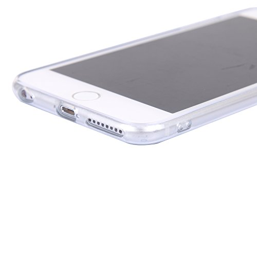 iphone 6/6s Handyhülle,iphone 6/6s Silikon Hülle,Cozy Hut 3D Handyhülle Muster Case Cover Für iphone 6/6s Liquid Crystal Ultra Dünn Crystal Clear Transparent Handyhülle Soft Cover Premium Anti-Scratch Schwarz-Weiß-Löwe