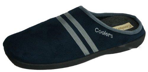 Coolers , Herren Hausschuhe, Blau - Dunkelblau - Größe: 12 UK (Herren Harte Sohlen Hausschuhe)